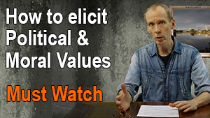 how to elicit political and moral values