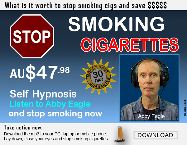 how to stop smoking cigarettes using self hypnosis with Abby Eagle