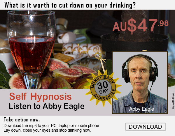 how to stop drinking beer, wine and spirits using self hypnosis with Abby Eagle