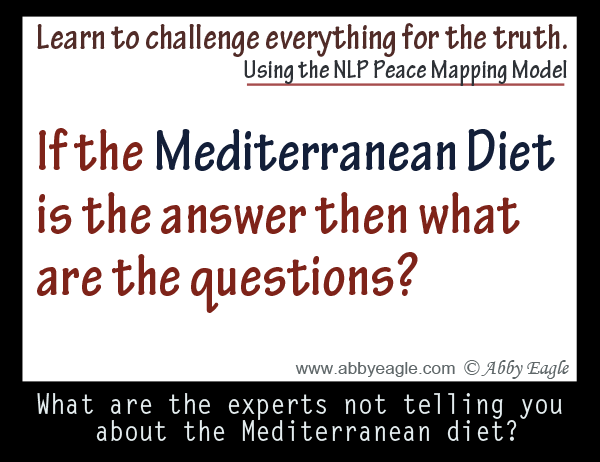 Applying the NLP Peace Mapping Model to the Mediterranean Diet.