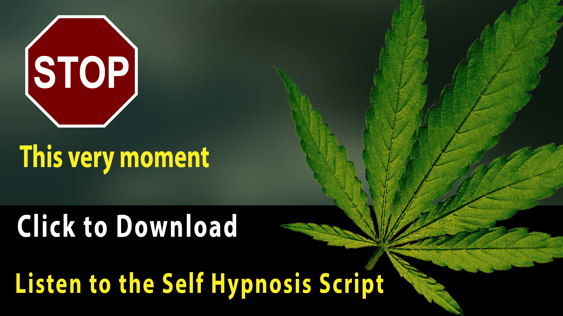 quite smoking marijuana self hypnosis script